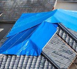 Roof leak damage